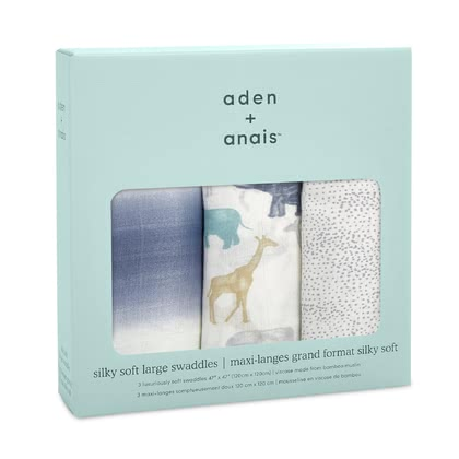 aden+anais柔軟嬰兒襁褓巾 3個裝 -  * The versatile swaddles by the American manufacturer aden+anais are the ideal accessory for mastering everyday life with a new-born baby – perfect for giving away, cuddling up in and changing your baby on.