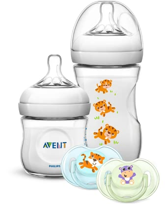 飛利浦AVENT Philips新生兒Naturnah奶瓶奶嘴禮品套裝 -  * The adorable Philips Avent Natural gift set is perfect for giving new parents and their little one's a real treat.