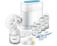 飛利浦AVENT Philips Naturnah手動吸奶器奶瓶組合裝 -  * The Philips Avent Naturals Starter Set helps you ease your little one's start to a new life by supplying you with all essential products you need for sterilising, expressing milk and feeding your little one.