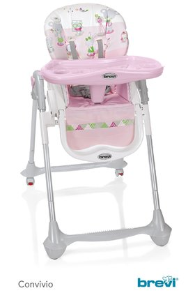 Brevi Highchair Convivio -  * The Brevi highchair Convivio features many convenient details and thus meets the needs of baby and parents perfectly.