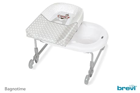 Brevi Bath and Changing Unit Bagnotime -  * The Brevi bath and changing unit Bagnotime is going to be the ultimate place to cuddle and bathe your baby right on top of your own bathtub.