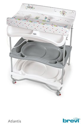 Brevi Bath and Changing Unit Atlantis -  * The super convenient 2 in 1 bath and changing unit Atlantis by Brevi turns your little one's daily care routine into the most delightful and pleasant time of the day.