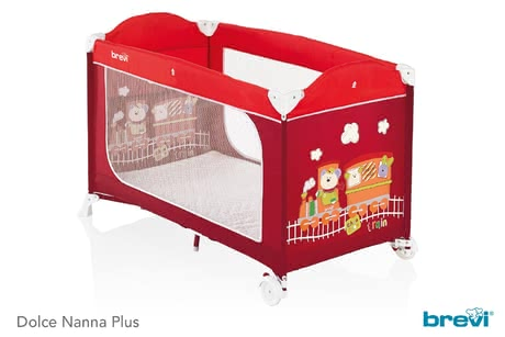 Brevi旅行便攜床Dolce Nanna Plus -  * The child-oriented designs of the Brevi travel cot Dolce Nanna Plus are a real treat for the eyes. They will delight your little one instantly so that he will love going to bed.