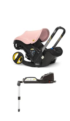 Doona+嬰兒提籃式安全座椅嬰兒推車三合一包含Isofix底座 -  * With the Doona+ infant car seat that can be transformed into a small buggy by the touch of a button, your child travels safely while being provided with a most comfortable equipment. The Isofix base supplies your child with even more safety.