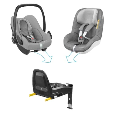 Maxi-Cosi邁可適FamilyFix One安全設計組合套裝 -  * Travelling in a rear-facing mode up to four years – The Maxi-Cosi FamilyFix One i-Size security concept corresponds to the latest safety standards according to the i-Size norm.