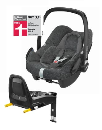 Maxi-Cosi 邁可適 Rock 嬰兒提籃包含FamilyFix One i-Size底座 -  * The infant car seat Rock is Maxi-Cosi's second i-Size infant car seat on the market. The Rock conforms to the latest safety standards and is suitable for your little passenger with a body height of 45 cm to 75 cm. This convenient set also includes the matching base FamilyFix One i-Size.