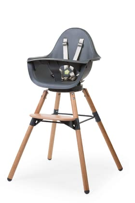 Childhome Highchair Evolu ONE.80 -  * By turning the Evolu ONE.80 you can easily change your little one's viewing direction. Without lifting the highchair, you can turn your little gourmet towards you in order to feed him/ her.