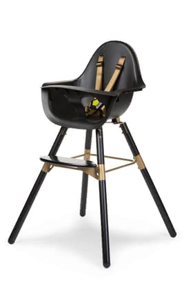 Childhome Highchair Evolu 2 Black & Gold -  * The elegant design of Childhome's highchair Evolu 2 brings a touch of luxury to your place. A trendy combination of a classic black and an elegant golden colour will convince all parents you love to add some oomph to their home with the certain something.