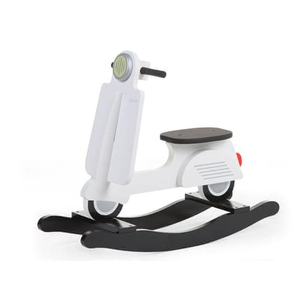 Childhome木質搖搖車 -  * The rocking toy Scooter by the manufacturer Childhome will delight little racers immediately. From now on there will be a touch of European atmosphere added to your little one's nursery.