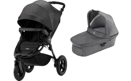 Britax Römer Pushchair B-Motion 3 Plus including Canopy Pack and Hard Carrycot Black Denim 2018 - 大圖像