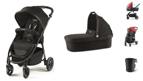 Recaro Pushchair Citylife Bundle Black 2019 - 大圖像