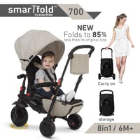 smarTrike 可折疊三輪車smarTfold 700 -  * The new foldable 8 in 1 smarTfold 700 is the revolution among the tricycles – without being bothered by time-consuming assembly and tools, you can easily switch from trolley to buggy or tricycle mode.