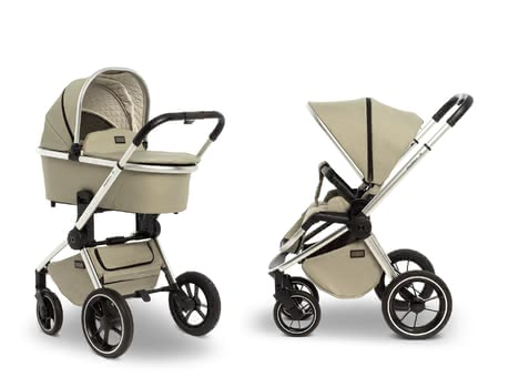 Moon 綜合型兒童推車ReSea 含睡籃 -  * Being mobile from the very first day of life – the stylish ReSea that comes with a carrycot for newborn babies and can later be used as an agile pushchair with seat unit accompanies you and your little one for a very long time.