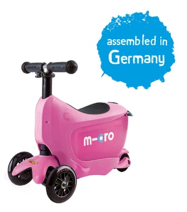 Micro 米高迷你隨行兒童三輪滑板車 -  * Reaching the final destination with style! The Micro Mini Sporty 2go with the practical seat with storage space is suitable for children from the age of 1.5 years and accompanies your little racer up to the age of five.