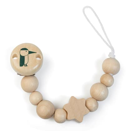 Grünspecht 木質奶嘴鏈 -  * No more rummaging in your bag or in the pram – this beautiful natural wooden soother chain keeps the soother, teething, rattle or orris root of your child safe and easy to reach.