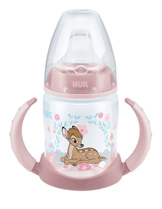 NUK迪士尼 經典First Choice 鴨嘴學飲杯, 150毫升-限量版 -  * The product world of NUK is now enchanted by the adorable Disney characters Bambi and Dumbo that come in a limited edition. The clumsy fawn and the faithful elephant with the big ears will soon become your child's most favourite companion.
