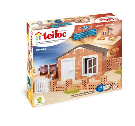 德國teifoc普雷羅沙灘別墅兒童建築手工玩具 -  * Let yourself and your child be inspired by teifoc's adorable beach house. Your child can build his own small holiday home step by step.