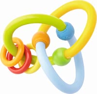 "Haba 哈巴 環中環式 嬰兒手抓環 -  * In order to promote early childhood development, it is important to stimulate all senses of your little explorer. Haba's clutching toy ""Roundabout"" features intertwined loops and three movable plastic rings which are ideal for supporting the development of your baby's motor skills."