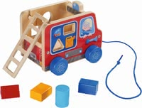 Haba 哈巴 拉拽玩具 消防車 -  * Pulling figures are great companions for toddlers who are already able to take their first steps, because they encourage your child to move and promote the natural urge to move in a playful way.