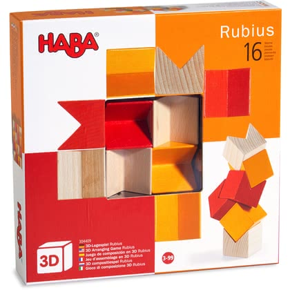 Haba 哈巴 3D-放置積木玩具 -  * The 3D pegging games provide fun for young and old alike. There are no limits to creativity, because there are innumerable variations on how the block can be arranged. Different colours featured in each game add great effects.