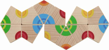Haba 哈巴 彩色圈 拼版遊戲 -  * The arranging game Colourful Circles by Haba trains the recognition and assignment of colours in a playful way.
