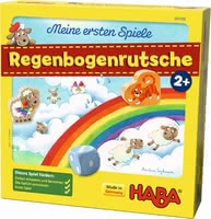 Haba 哈巴 我的第一場遊戲—— 彩虹滑梯 -  * The game Rainbow Slide offers two cooperative cloud games: colour assignment and matching game.