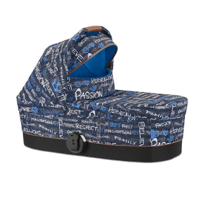 Cybex Gold Values for Life Carrycot Cot S -  * The new Fashion Edition Values for Life presents itself as lively and individual as our children! Inspired by the latest design trends, this edition comes in an elaborate design that features the cult colours blue, red, green and black.