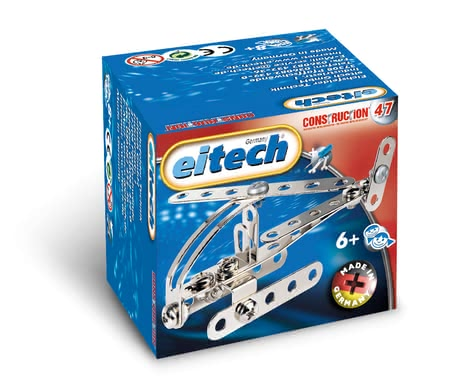 eitech 金屬套件拼裝益智玩具 迷你小型直升機 -  * With the eitech Metal Building Kit Mini-Helicopter your little pilot can take-off into the air.