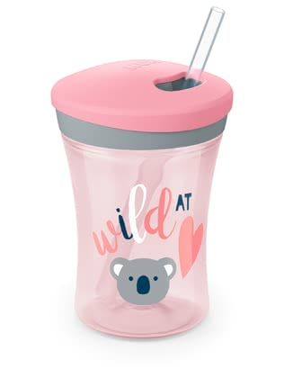 NUK 吸管杯Action Cup -  * When movement and action are standing in the centre of attention, then the NUK Action Cup serves as the ideal companion for your little adventurer from the age of 12 months and up.