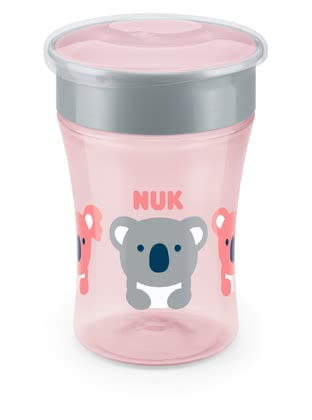 NUK EVOLUTION旋轉吸管魔術杯 -  * The NUK Magic Cup lets the little ones drink like the grown-ups. The 360° drinking rim encourages and helps drinking from all sides – no handles at all and almost like a normal cup.