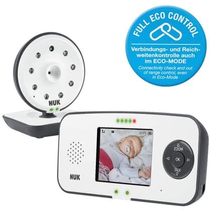 NUK 帶影像嬰兒監視器Eco Control Video Display 550VD -  * NUK's digital baby monitor Eco Control Video Display 550VD provides new parents with the reassurance to know that their baby sleeps peacefully, even when they are not in the same room.