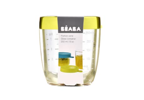 Béaba食物分裝盒 玻璃材質 250ml -  * Store, freeze, heat and sterilise – all in one container. The practical Béaba container is made of particularly high-quality and resilient glass and is perfect for storing baby food.