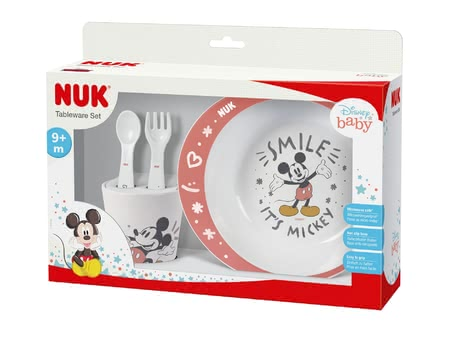 NUK迪士尼米老鼠圖案進食學習套裝 -  * ✓ suitable from 6 months and up ✓ including cup, plate & cutlery ✓ high quality & non-toxic ✓ suitable for microwave & dishwasher