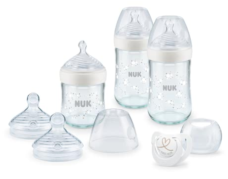 NUK自然母感 玻璃奶瓶套裝 -  * The NUK Nature Sense glass bottles do not only feature a high quality but are also durable, particularly hygienic and easy to use.