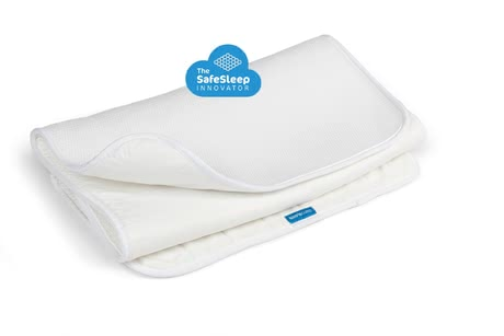AeroSleep床墊保護墊3D蜂窩狀結構 - ul> * The unique AeroSleep mattress protector provides your baby with safe sleep and lets even you as parents have a relaxing sleep./li>