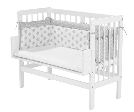 Alvi嬰兒折疊床星星圖案銀色 -  * With the Alvi Cot Bumper your child will sleep safe and cuddled up in his or her cot.