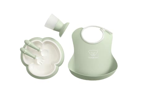 Baby Björn寶寶用餐套裝 -  * Modern and smart at the same time – the BabyBjörn baby dinner set comes in subtle pastel colours and fits perfectly into your modern home.