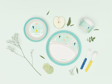 Babymoov餐具套裝 竹子材質 -  * The first environmentally friendly dinnerware set for kids by Babymoov will delight trend-conscious parents immediately and will convince everybody with many useful features.