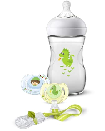 Philips AVENT飛利浦新安怡Naturnah 2.0禮物套裝 卡通龍 -  * The adorable Philips Avent Natural 2.0 gift set is the perfect present for parents-to-be and their tiny humans.