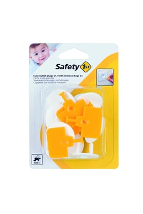 Safety 1st歐洲標準 電源插座保護罩 -  * Make everyday life with small children safer. The Safety 1st Euro socket inserts are suitable for grounded or ungrounded Euro sockets with 2 pins.