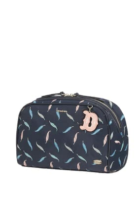 "Samsonite新秀麗迪士尼Dumbo Feathers化妝洗漱包 -  * This beautiful toiletry bag by Samsonite is inspired by the Disney Classic ""Dumbo"". It is embroidered with pastel-coloured feathers and cute, ornamental details."