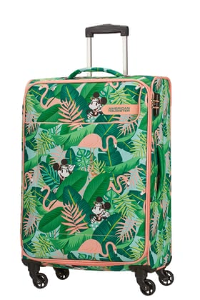 新秀麗Samsonite旗下美旅American Tourister拉桿箱迪士尼Funshine -  * Modern, light in weight and super spacious – the palm-themed spinner from the new Funshine Disney collection will make you reach your holiday destination with plenty of fun.