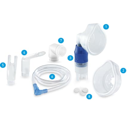 Chicco智高霧化吸入器配件套裝 -  * With the comprehensive Chicco accessories kit for the Aerosol Inhaler Super Soft you can make up your very own, individual treatment.