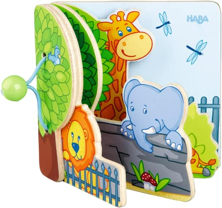 Haba高質量兒童書 -  * Children's small hands can easily handle and turn the sturdy wooden pages of this adorable picture book