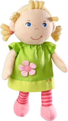 Haba帶有音樂的布偶娃娃 Mali -  * Mali will accompany your little princess right from the very first day. The cute doll with a built-in music box guides your child into the land of dreams night after night.