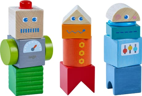 Haba木質兒童玩具機器人朋友 -  * The versatile Haba discovery blocks are perfect for encouraging little robot fans to explore and discover. Children at the age of 2 years and up will be absolutely delighted by this robust sensory toy.