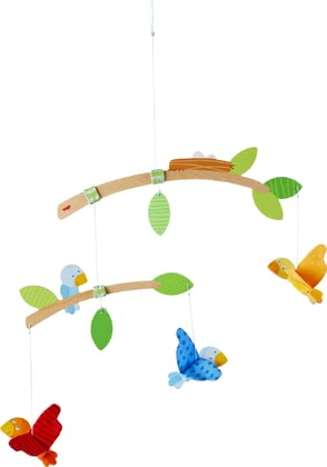 Haba空中的小鳥  嬰兒床掛件 -  * A mobile is an indispensable companion in the basic equipment of a nursery. With its green foliage and colourful little birds, the Haba mobile 'Little Birds' does not only attract the attention of your little one.