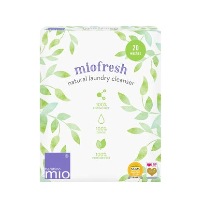 BambinoMio miofresh 天然洗衣劑 -  * The environmentally friendly and biodegradable BambinoMio miofresh laundry cleanser is specially designed to clean and refresh cloth nappies and other garments, even at low temperatures.