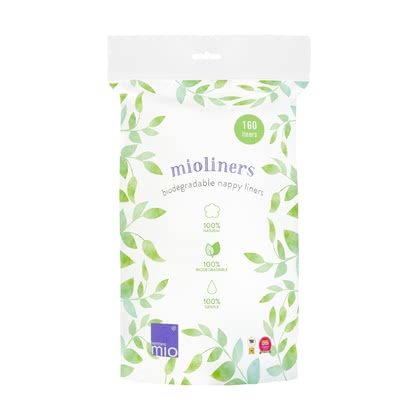 BambinoMio mioliners 可生物降解的尿布內墊 -  * The use of the biodegradable BambinoMio mioliners is 100% natural. It makes nappy changing with cloth nappies much easier and fuss free.