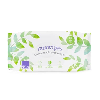 BambinoMio miowipes 棉製寶寶濕巾 -  * Nappy changing can be so easy! The natural, environmentally friendly and wonderfully soft cotton wipes are the ideal alternative to common baby wipes.